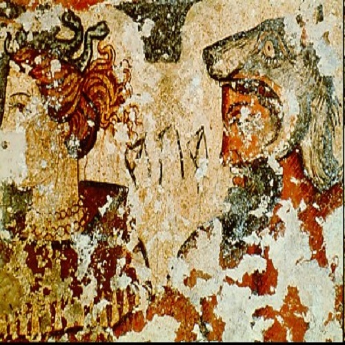 Mantus and Mania, 2nd Century BC, Tomb of Orcus II - Etruscan Mural