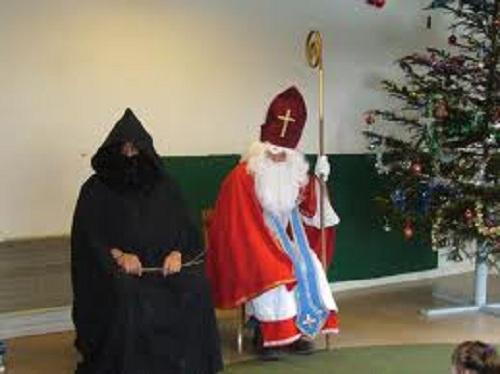 Santa and his hired muscle