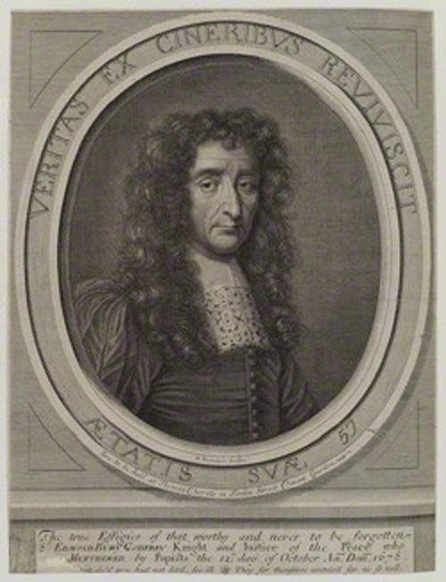 Sir Edmund.  Died by fatal pun.